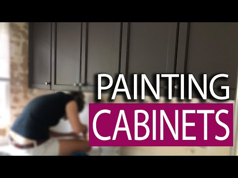 How to Spray Paint Cabinets - Base / Clear